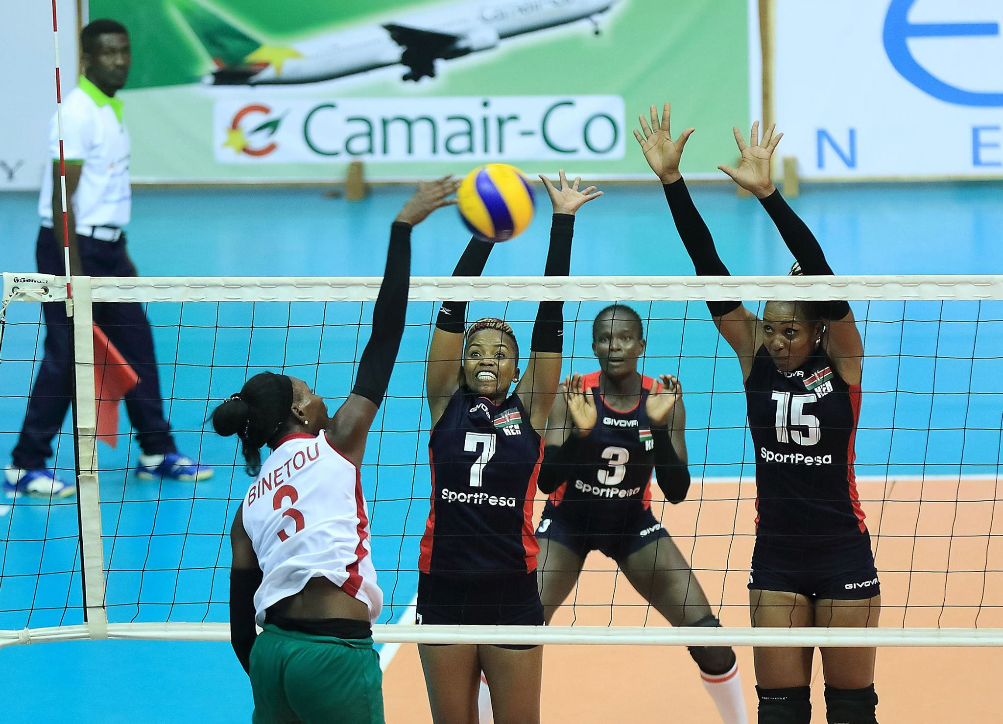 Holders record second consecutive straight sets win at African Women's Volleyball Championship