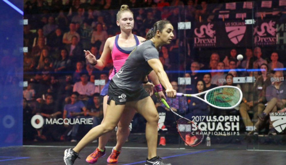 Raneem El Welily came from two games down to earn a place in the second round ©PSA