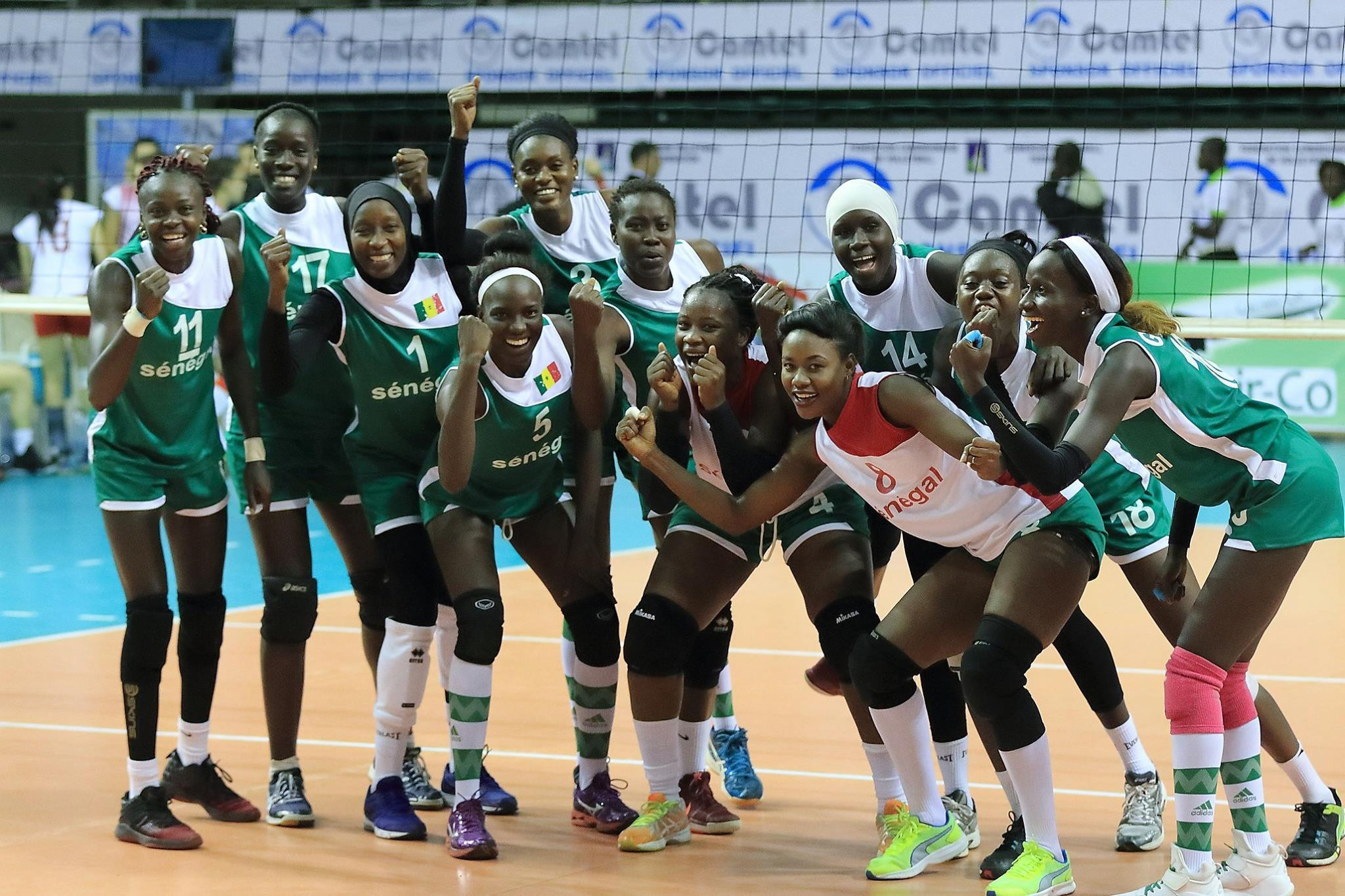 Senegal defeated Tunisia elsewhere today at the continental event ©CAVB