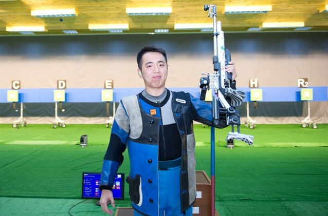 Cao Yifei of China took victory in the men's 10m air pistol competition