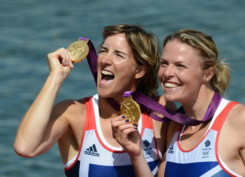Anna Watkins, (right) is following in the path of her fellow London 2012 rowing gold medallist Katherine Grainger and returning to the sport after a break ©Getty Images
