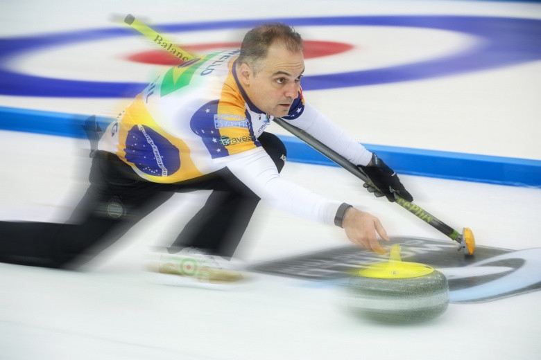 Brazil secured a historic first win at the World Mixed Curling Championships ©WCF