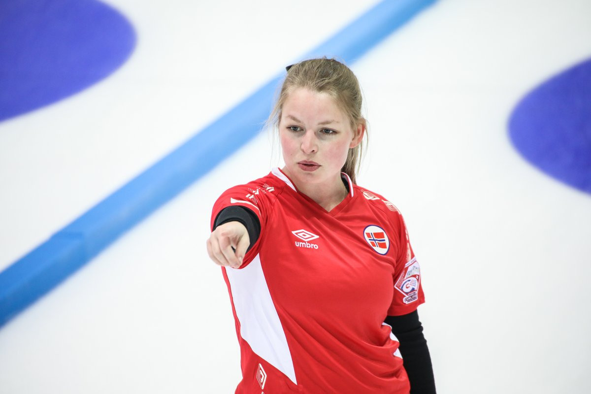 Norway were among other winners today at the World Mixed Curling Championships ©WCF