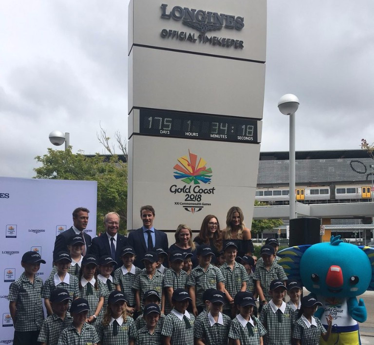 Gold Coast 2018 and Longines unveil countdown clock at Brisbane Airport