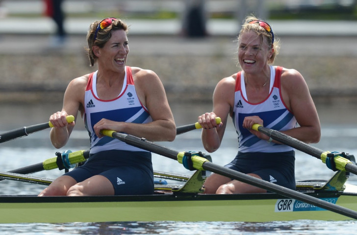 Anna Watkins (right), is following the route taken by her fellow London 2012 gold medallist Katherine Grainger and seeking a return for Rio 2016 after taking time out  ©Getty Images