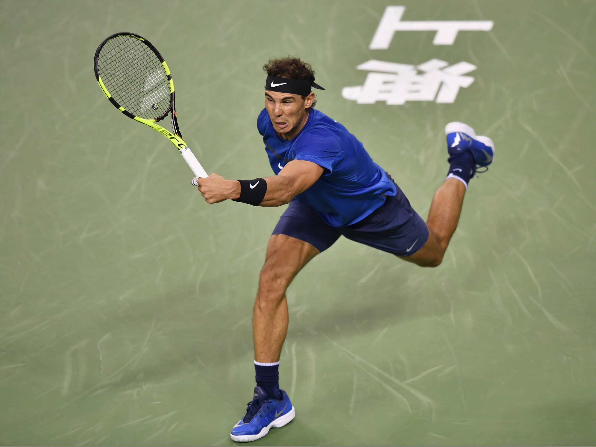 Nadal and Federer progress as Kyrgios fined for walking off court at Shanghai Masters