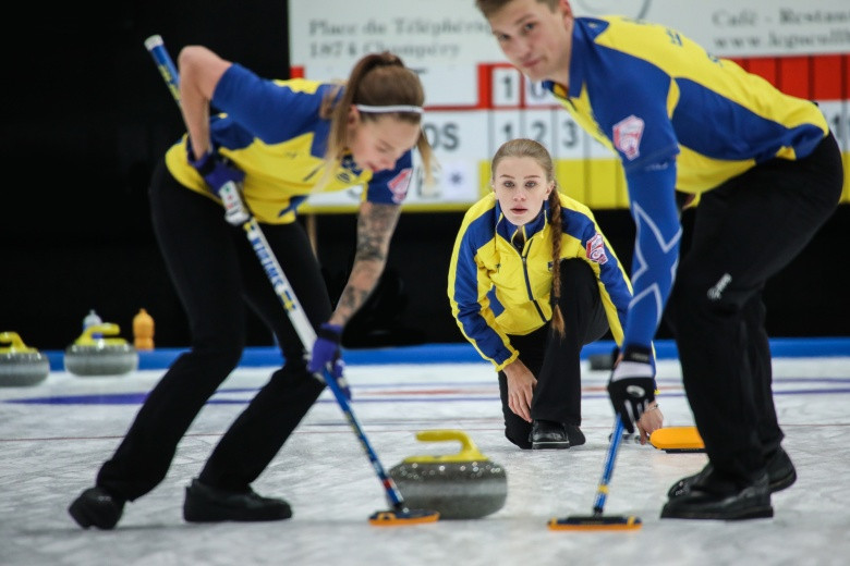 Sweden claimed a 9-1 victory over the United States inside six ends ©WCF