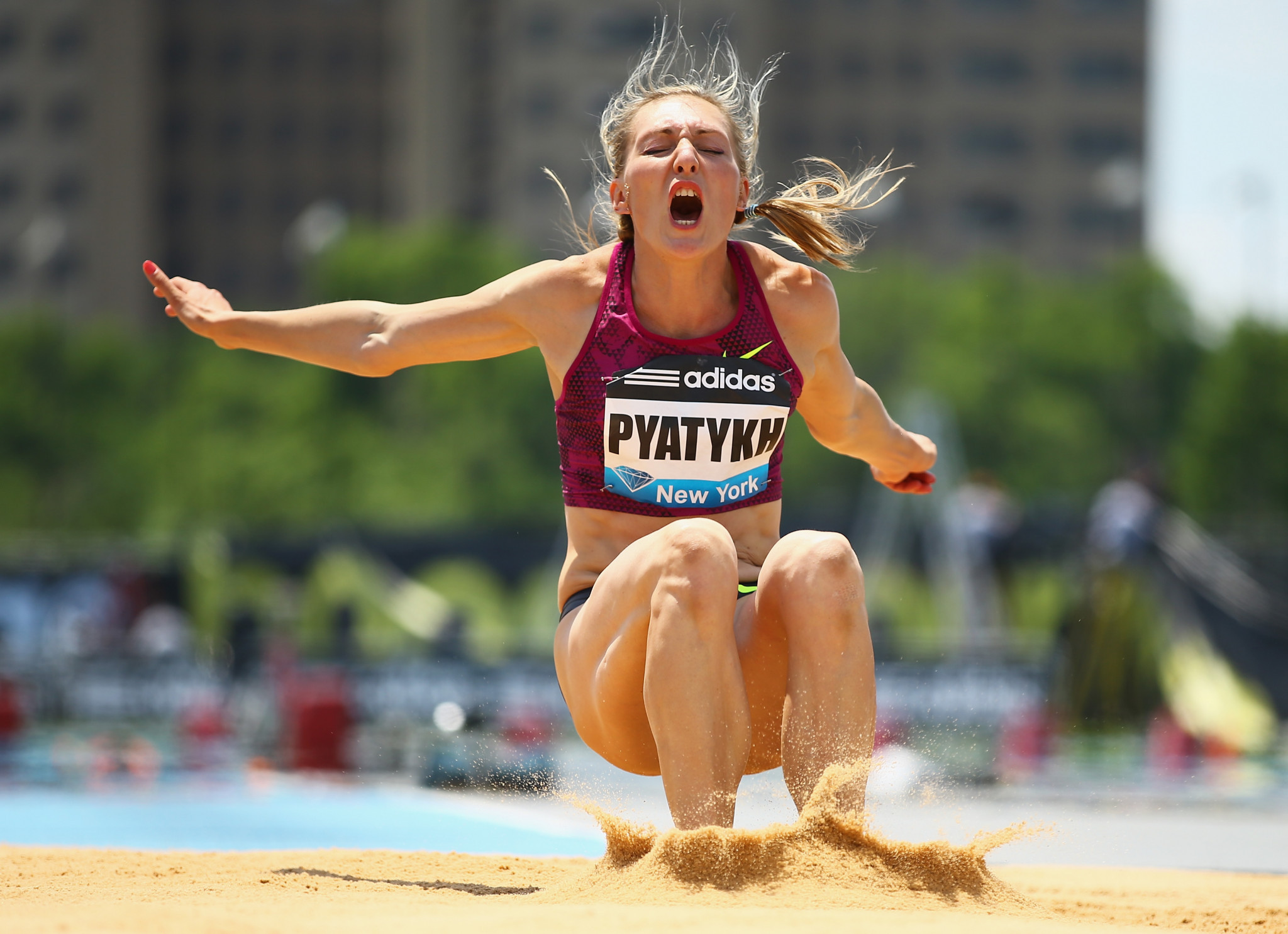 Russian triple jumper Anna Pyatykh was given a four-year doping ban by the CAS ©Getty Images