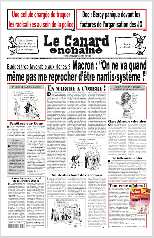 French satirical magazine Le Canard enchaîné has published this week what it claims are the salaries for leading figures at Paris 2024 ©Le Canard enchaîné