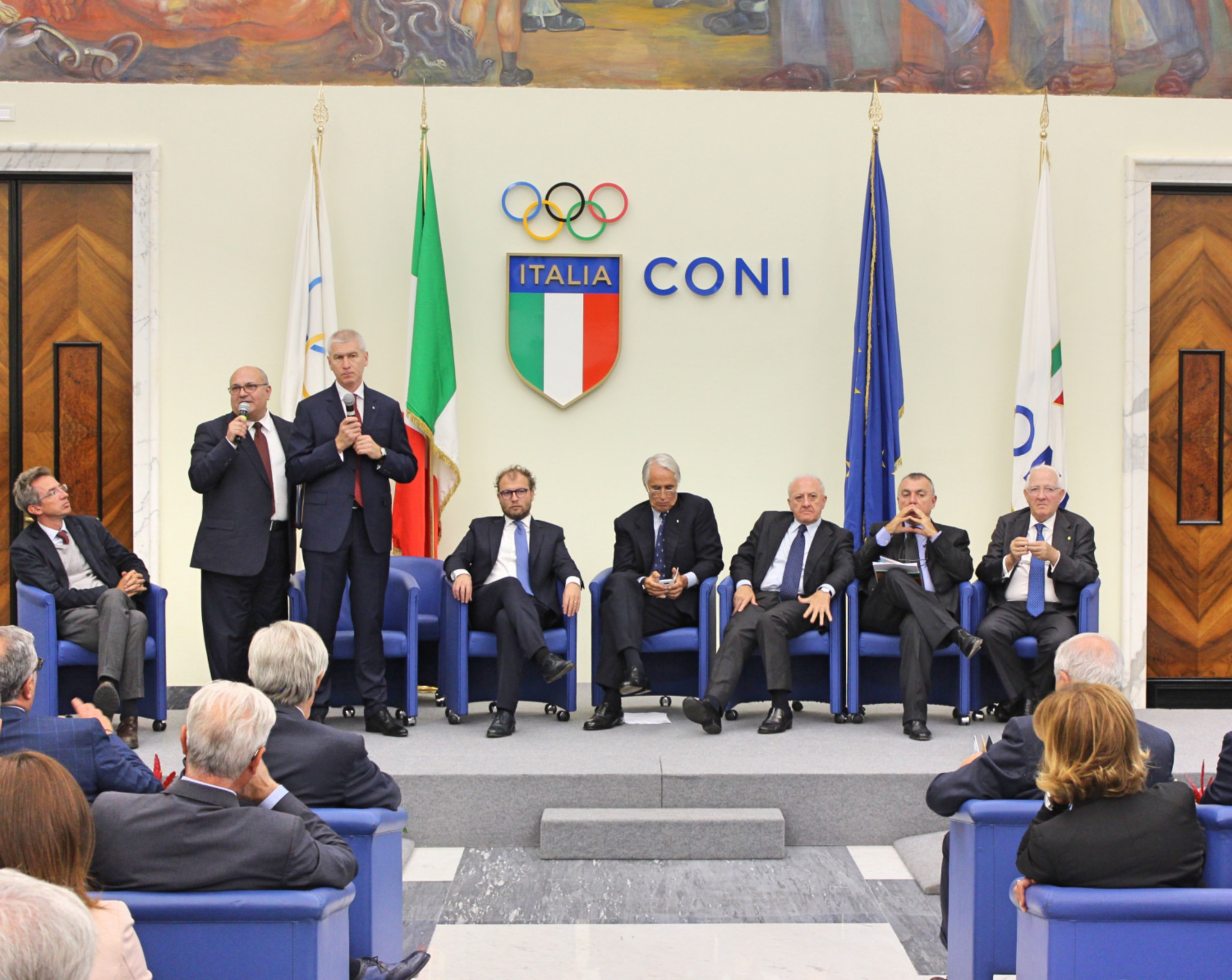 FISU officials inspect preparations for Naples 2019 Summer Universiade