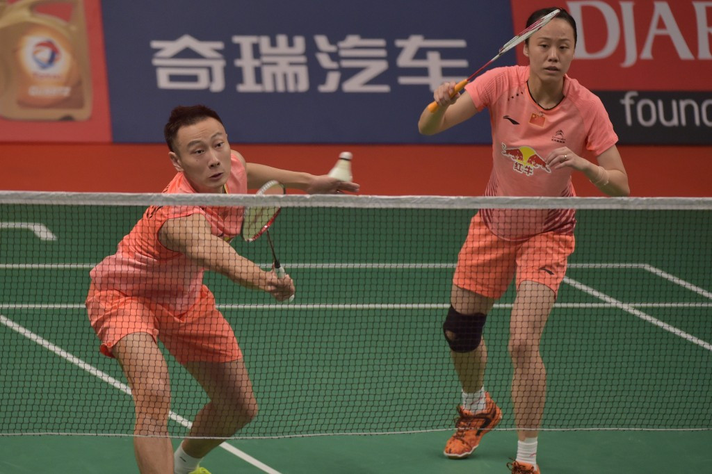 Mixed doubles top seeds top seeds Zhang Nan and Zhao Yunlei are safely through after a comfortable victory over Phyllis Chan and Phillippe Charron of Canada