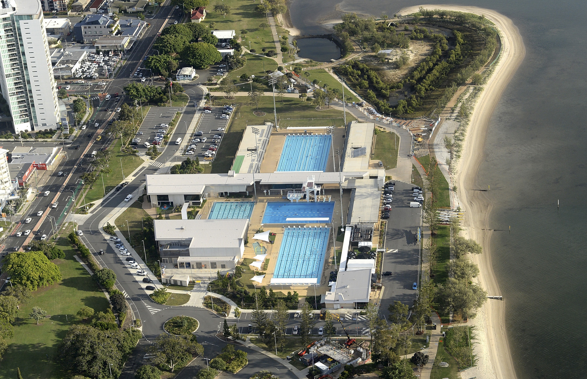 Temporary stands will turn the Gold Coast Aquatic Centre into a 10,000 seat venue at the Games ©Getty Images