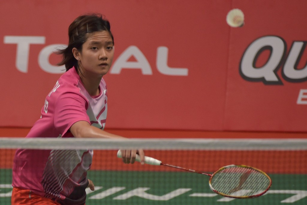 Porntip Buranaprasertsuk of Thailand caused perhaps the biggest shock of the event so far by beating world number nine Nozomi Okuhara of Japan