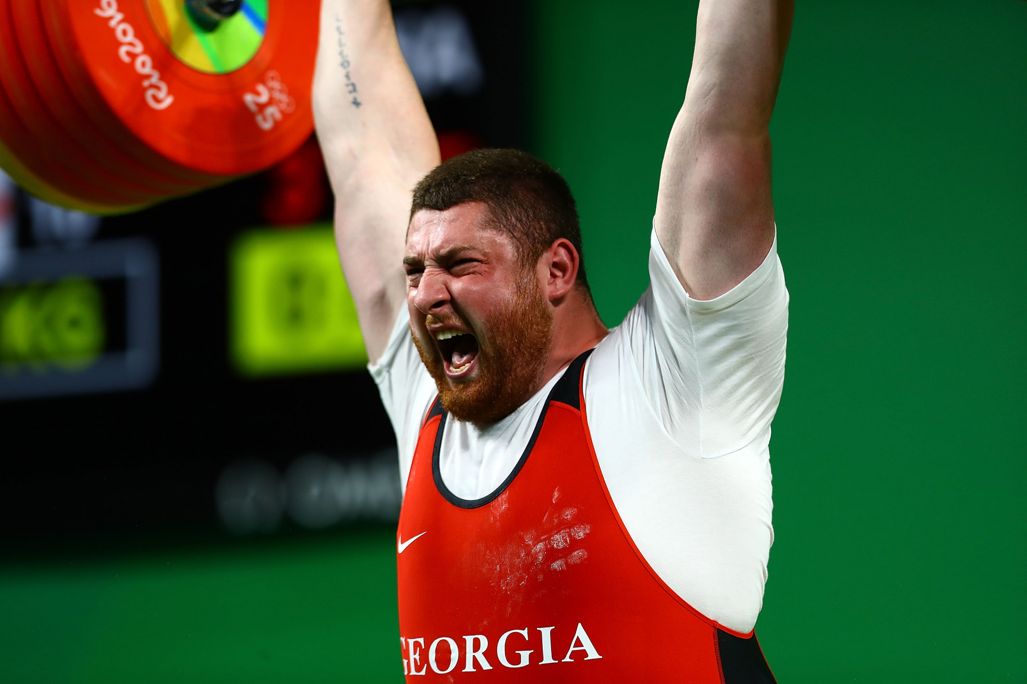Lasha Talakhadze, the Georgian weightlifter, could win gold on home soil if the Championships are moved ©Getty Images