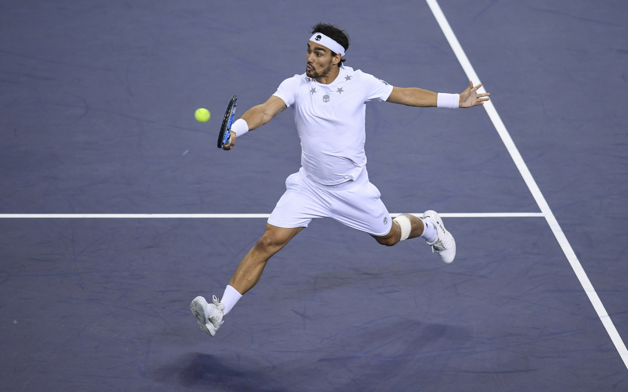 Penalties will be cut if Fabio  Fognini stays clean at the next two Grand Slam seasons ©Getty Images