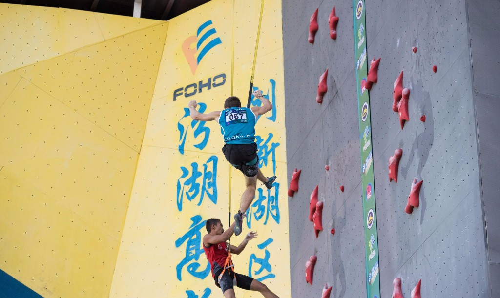 Russia's Aleksandr Shikov is expected to be among the medal winners in Xiamen this weekend ©IFSC