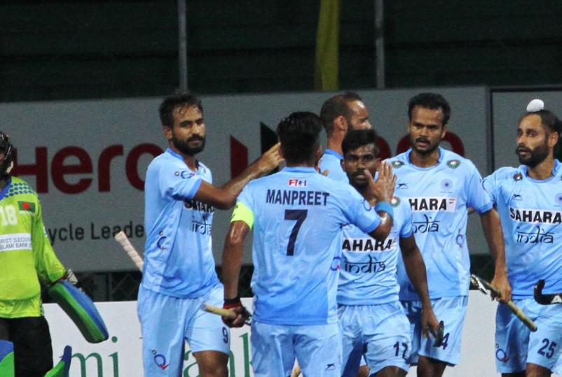 India thrash hosts Bangladesh at Asia Hockey Cup