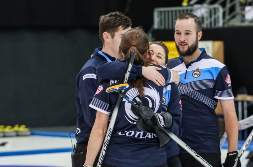 Scotland claimed an extra end win over Canada in the final ©WCF