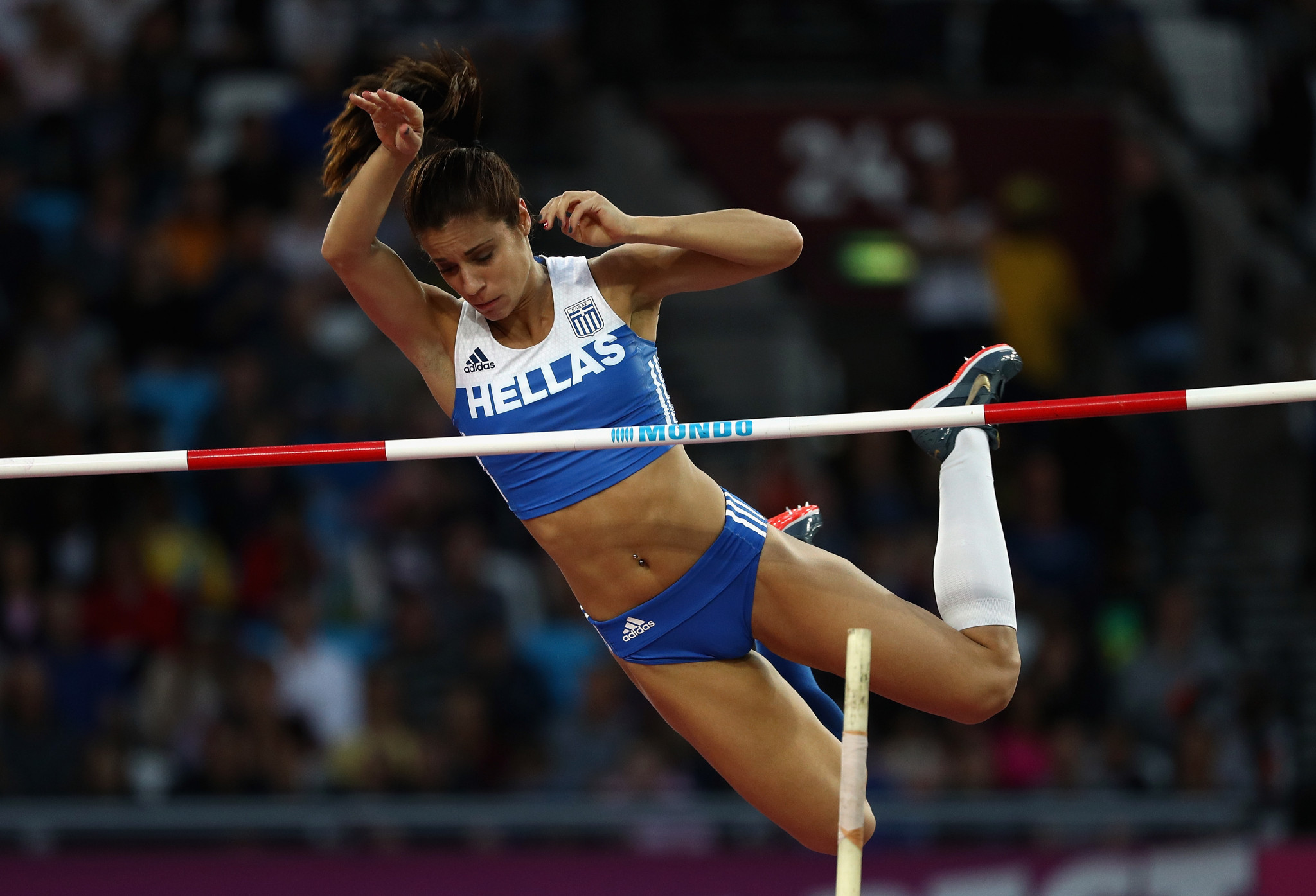 Greek pole vaulter Ekaterini Stefanidi was crowned the women's athlete of the year ©Getty Images