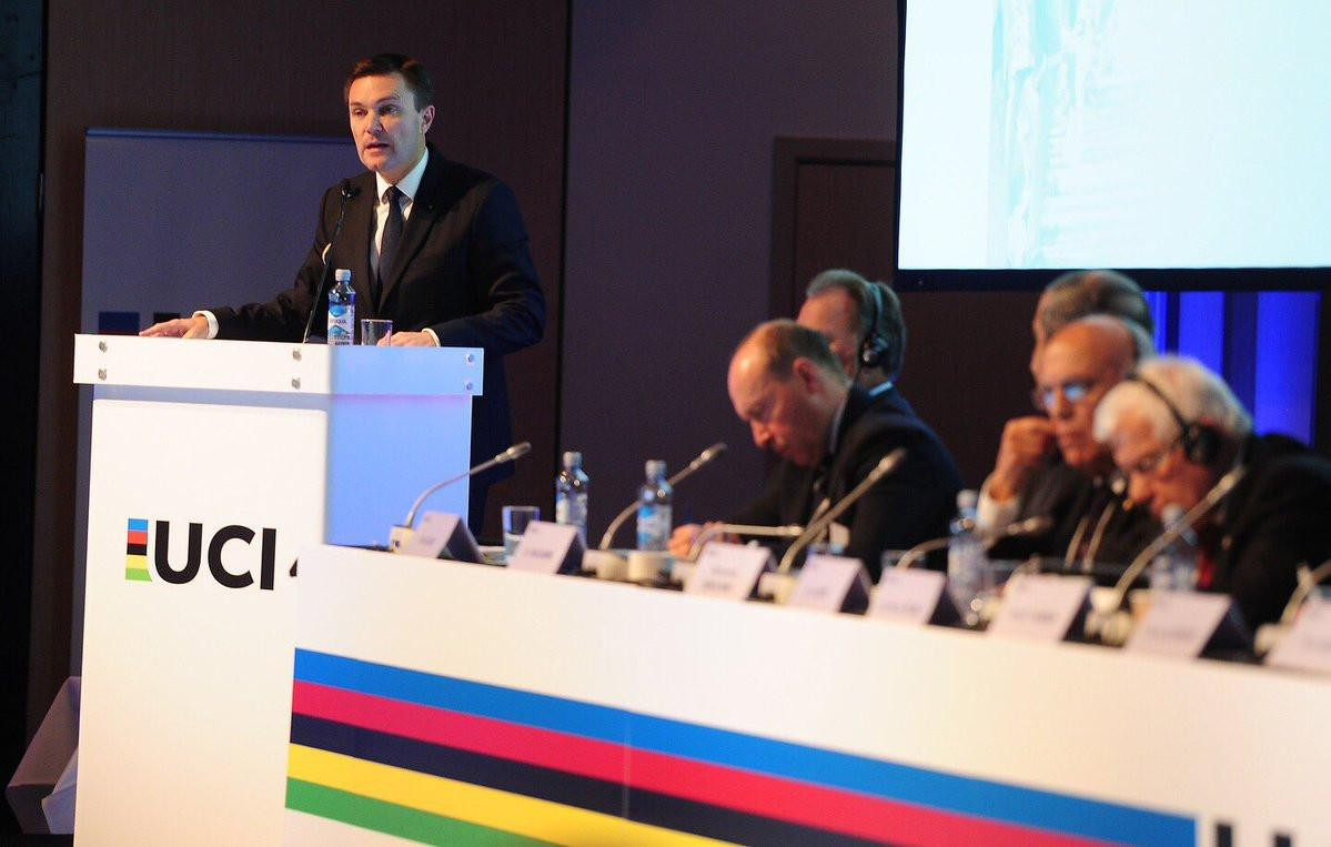 David Lappartient had made banning corticosteroids - even with a therapeutic use exemption - a key pledge during his successful campaign to become UCI President last month ©UCI