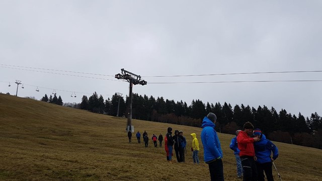 FIS officials inspect site for FIS Snowboard Cross World Cup in Feldberg