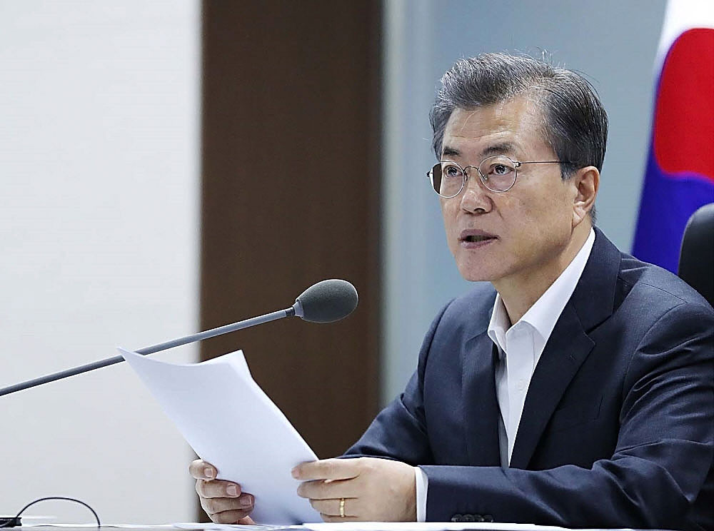 A meeting with South Korean President Moon Jae-in will be on Andrew Parsons' agenda ©Getty Images