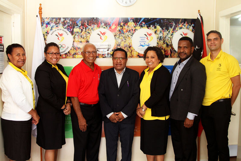 Papua New Guinea Olympic Committee welcomes Vice-Minister for Sports to office