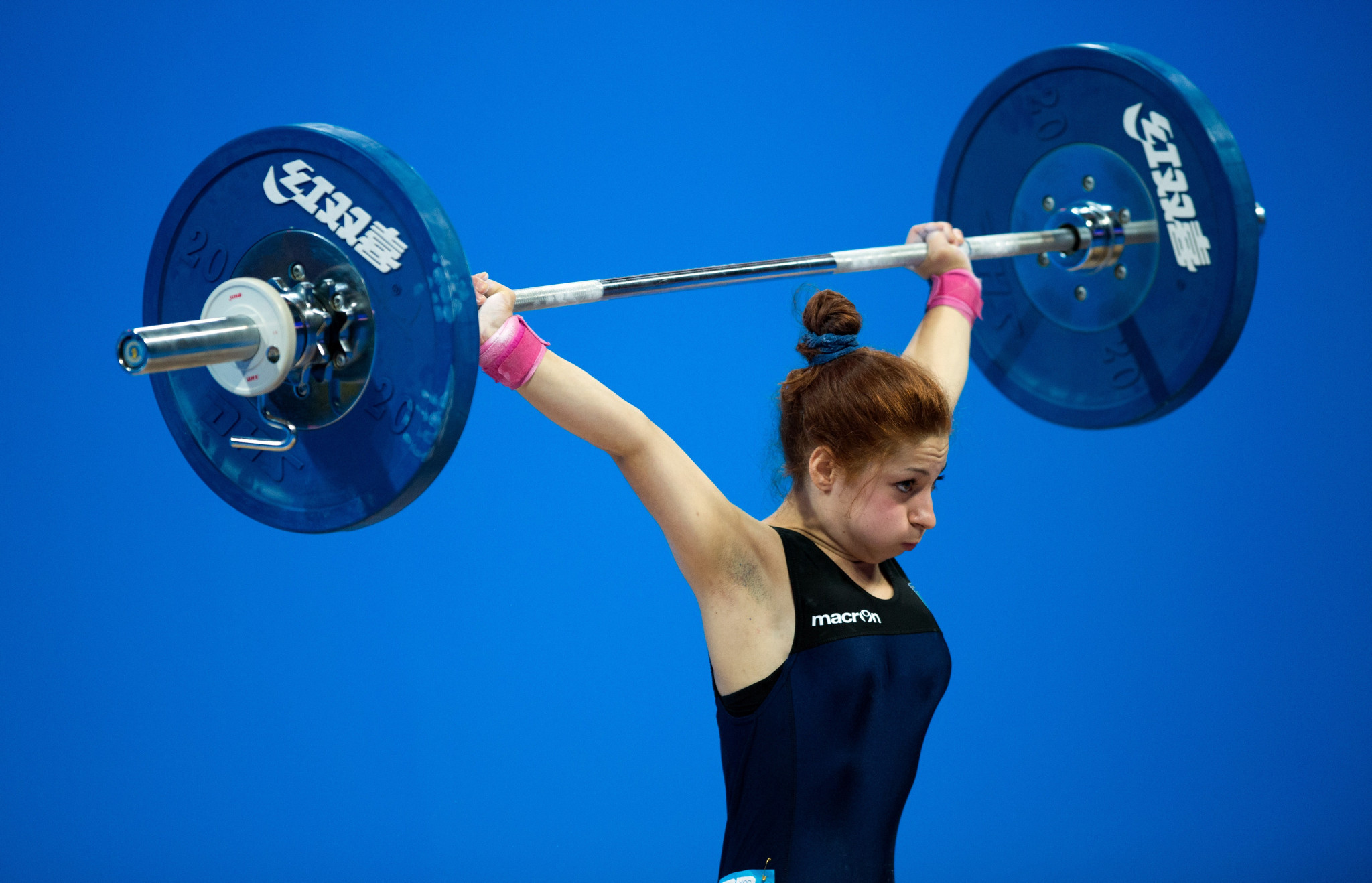 Alessandra Pagliaro was the best in both the snatch and clean and jerk ©Getty Images