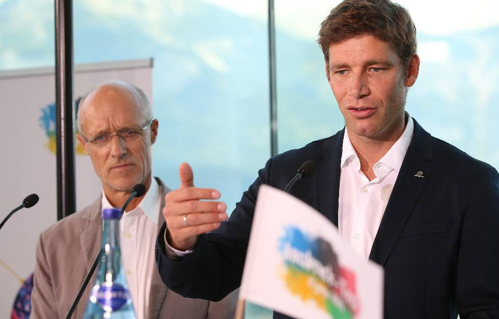 Olympic gold medallist Benjamin Raich was among those backing Innsbruck 2026 ©ÖOC