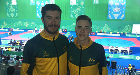Adam Meyers, left, and Will Alonczenko feel that the Australian Taekwondo Championships in Bendigo greatly benefited them in their goals of getting to Tokyo 2020 ©Australian Olympic Committee