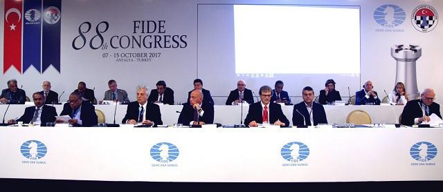 The FIDE Congress took place in Antalya ©FIDE