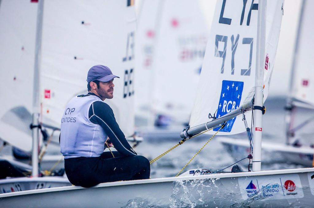 Kontides locked in three-way tie at summit of laser leaderboard at Sailing World Cup
