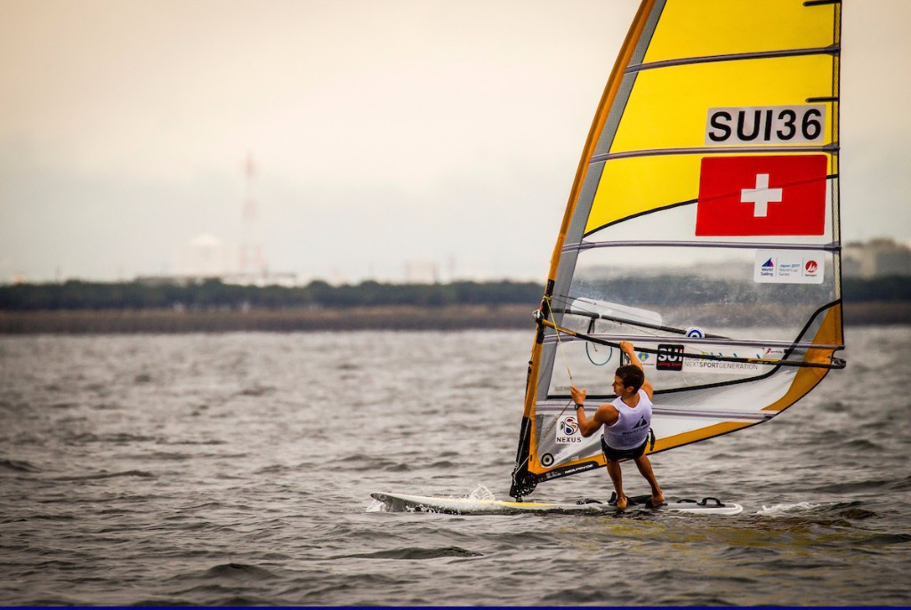 Mateo Sanz Lanz of Switzerland won both of the two RS:X races held today ©World Sailing