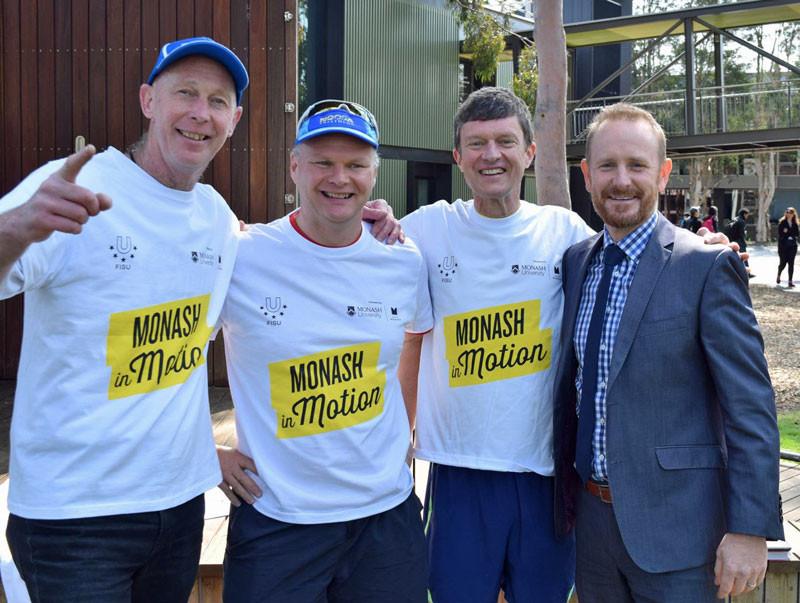 More than 1,200 participants took part in a Global Fun Run Walk held across many Monash university campuses ©FISU
