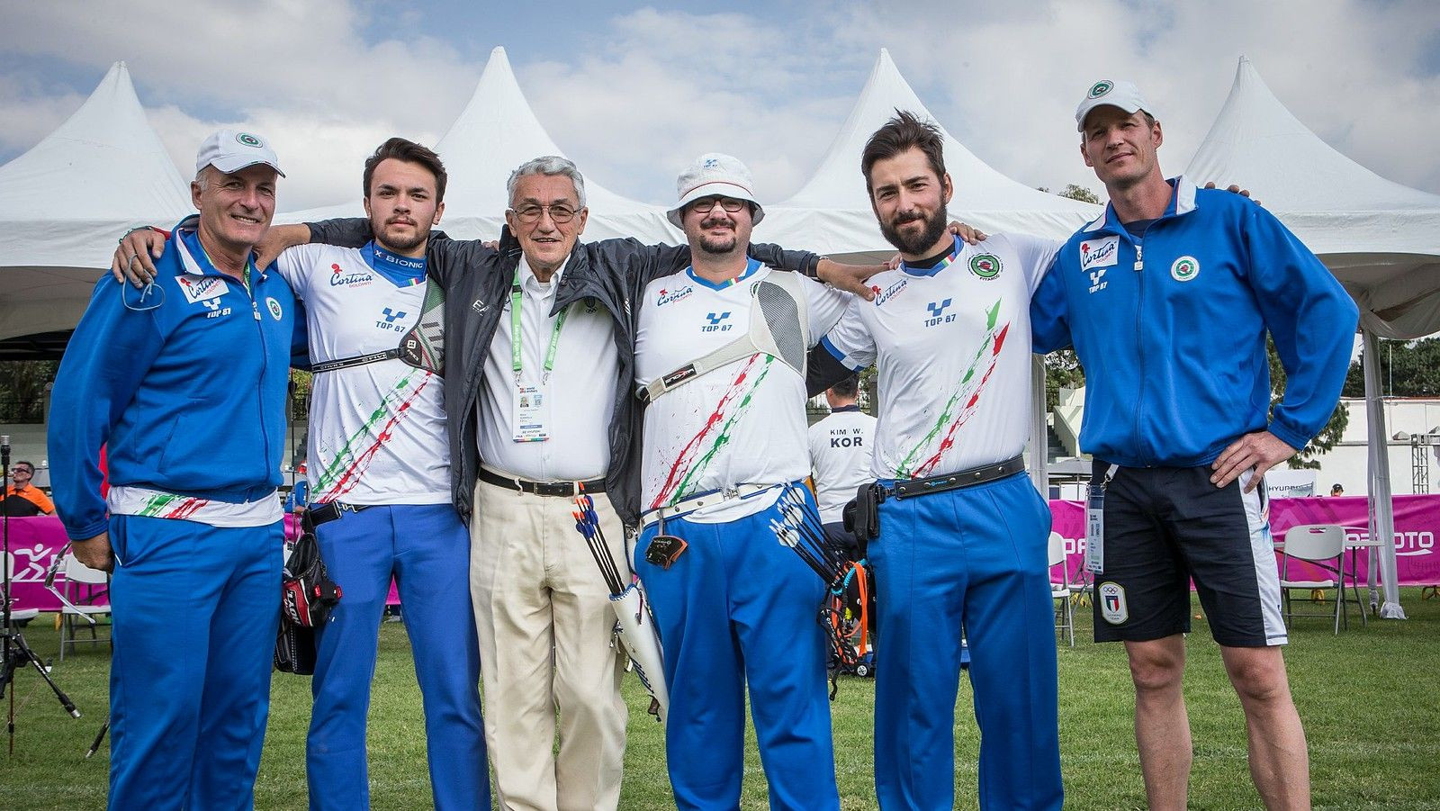 Italy, pictured, will play France in the men's team recurve final ©World Archery