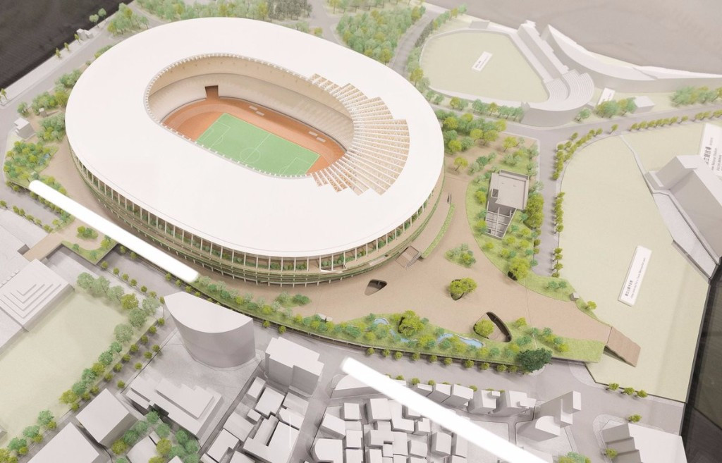 The latest digital images of the Tokyo 2020 Olympic Stadium have been revealed ©Tokyo 2020