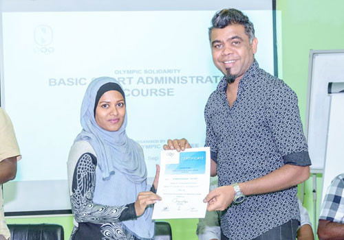 Maldives Olympic Committee hold sports administrators course