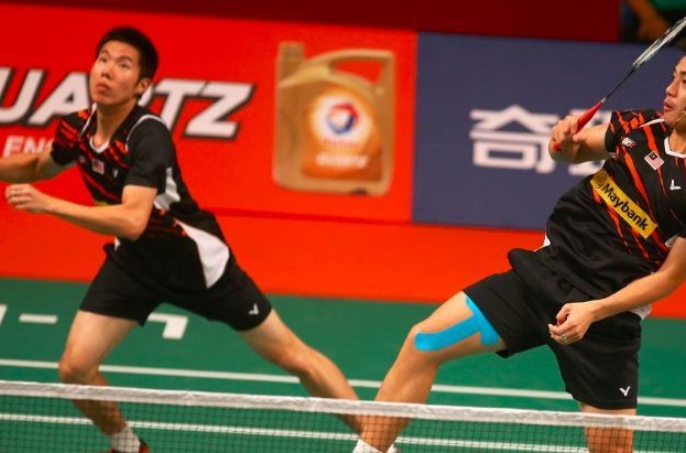 Shin Baek Choel and Ko Sung Hyun's title defence lasted only two rounds after they suffered a surprise defeat at the Badminton World Championships ©BWF