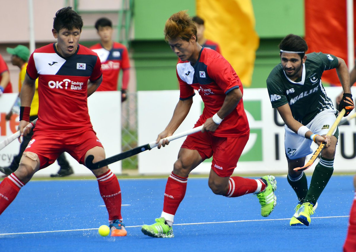 South Korea and Pakistan played out a 1-1 draw in the other super fours match held today ©AHF