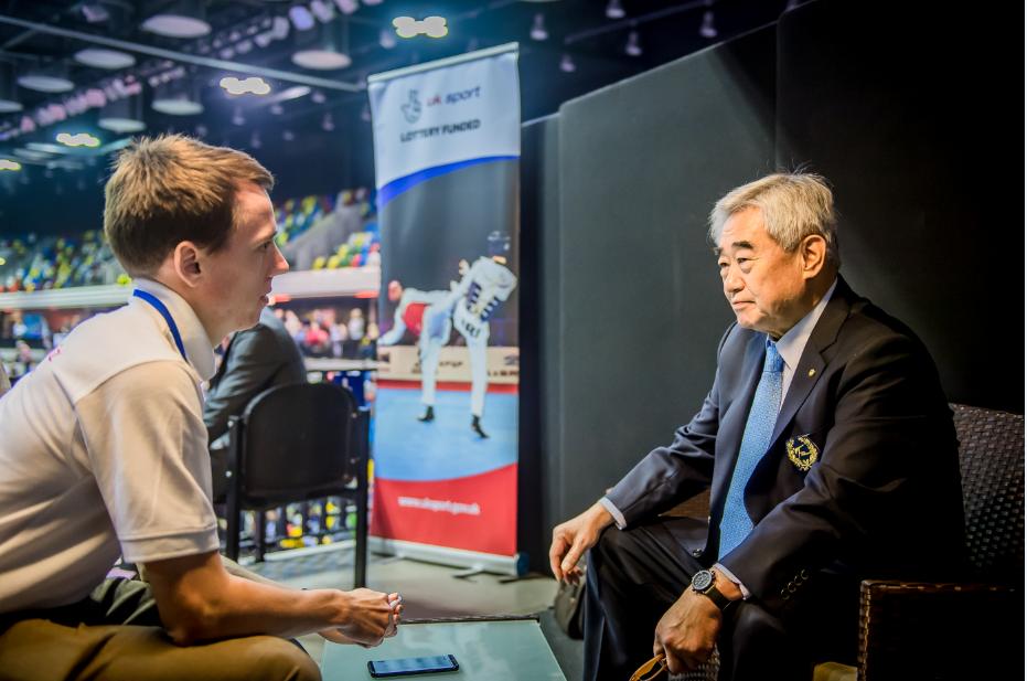 World Taekwondo President Chungwon Choue spoke to insidethegames on the sidelines of this year's World Para-Taekwondo Championships in London ©World Taekwondo