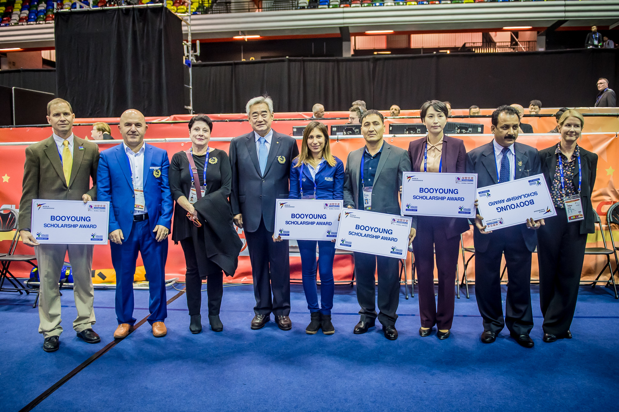 A number of countries were given a Booyoung Scholarship Award ©World Taekwondo