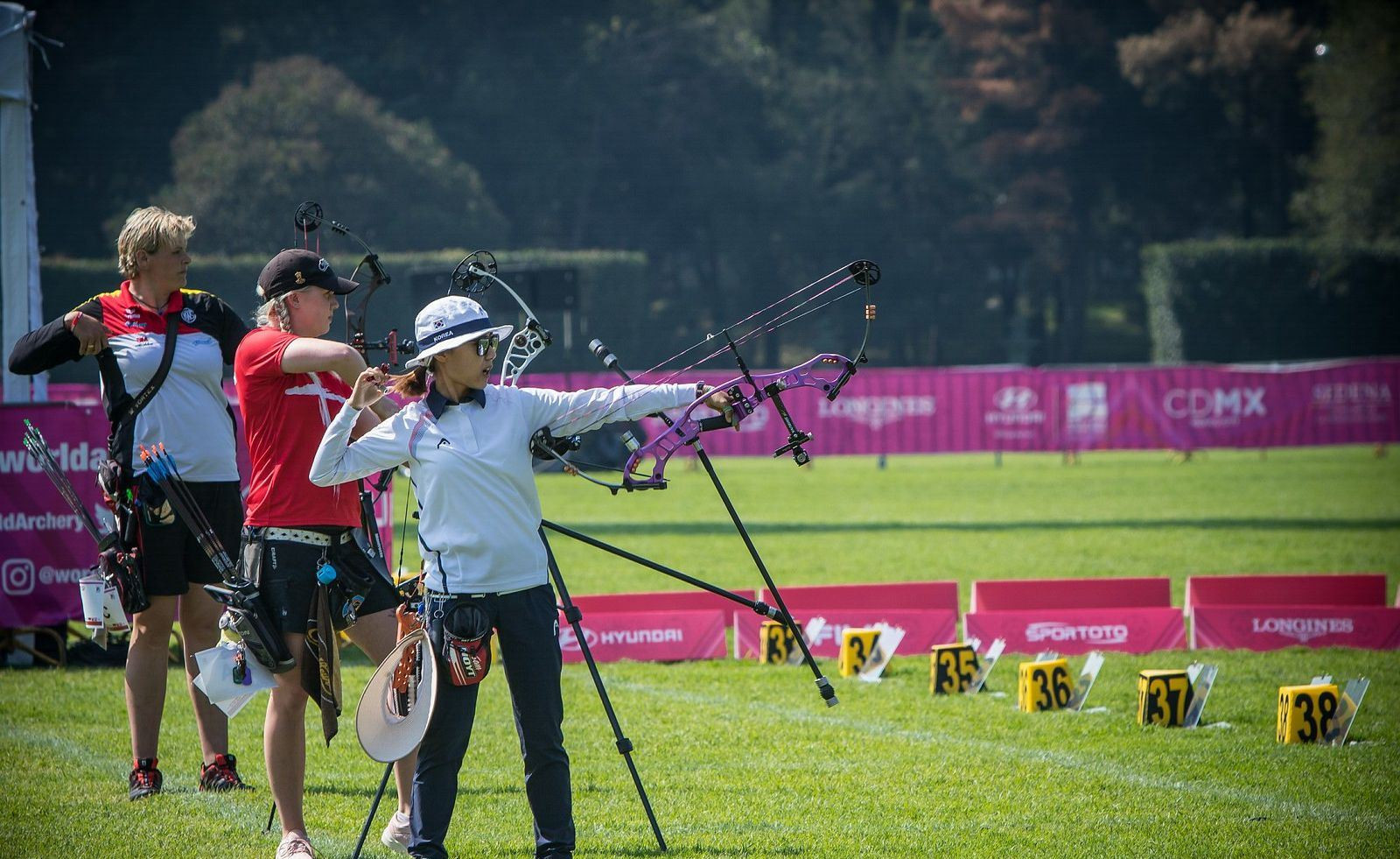 The line-up for the women's compound final was also determined today ©World Archery