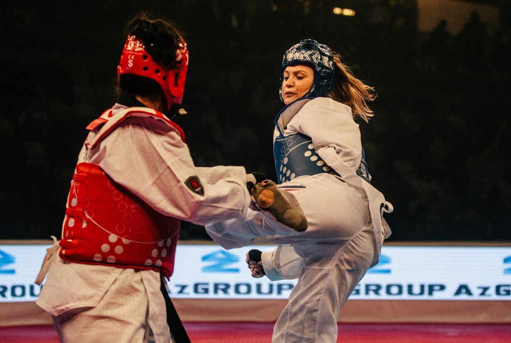 Britain's Amy Truesdale dominated the women's K44 over 58 kilograms competition ©GB Taekwondo
