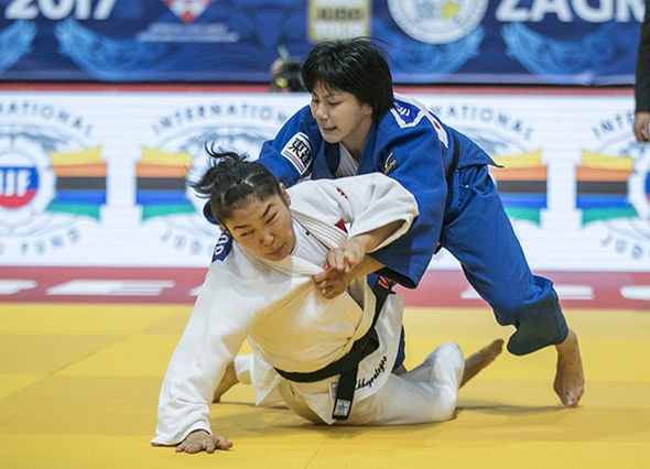 Japan's Haruka Funakubo successfully retained her women's under 57kg title ©IJF