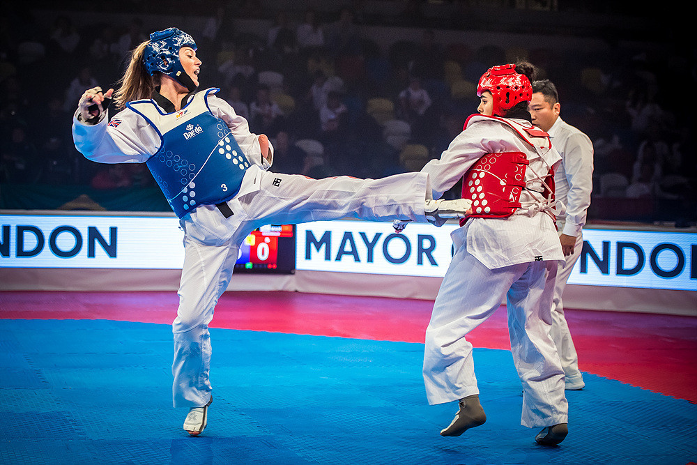 Truesdale was leading 17-3 in the final at the Copper Box Arena when Moroccan opponent Rajae Akermach was forced to withdraw in round two due to injury ©World Taekwondo