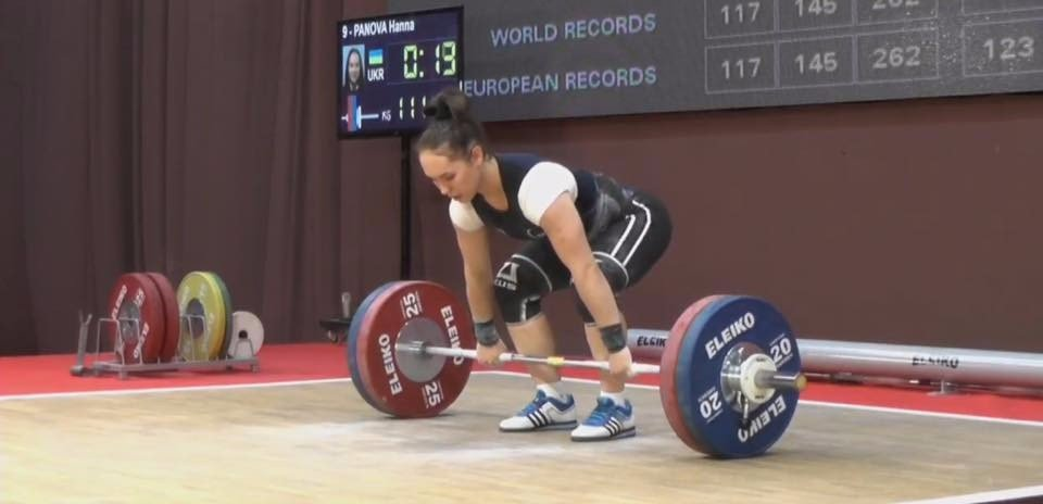 Ukraine's Hanna Panova was controversially pipped for the gold medal in the 69kg category at the European Junior and Under-23 Championships ©Ukrainian Weightlifting Federation