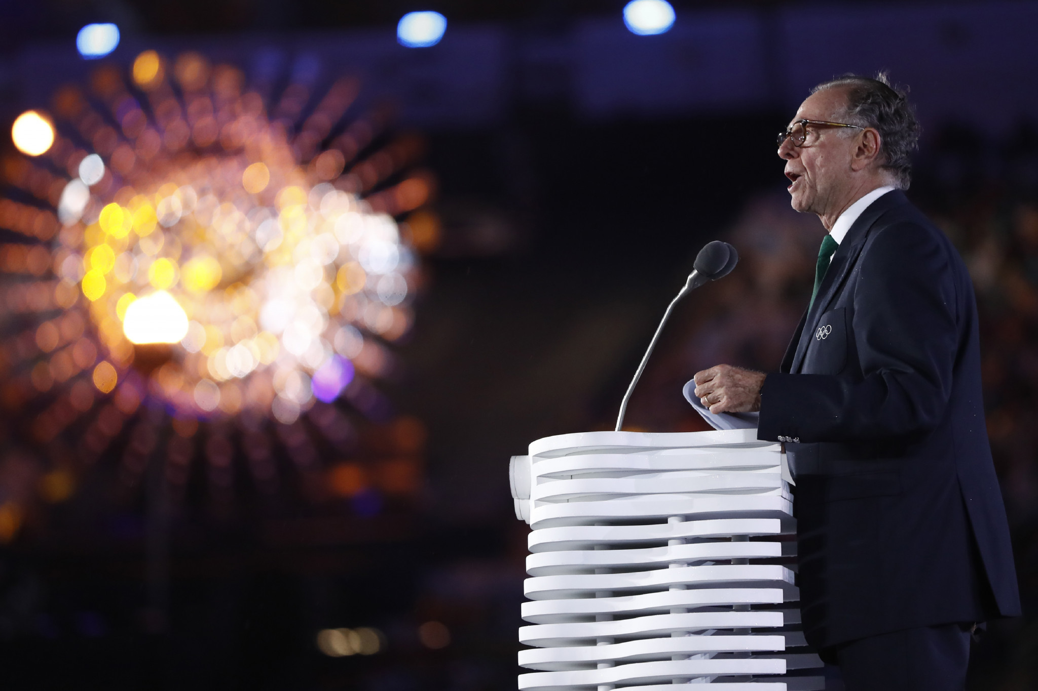 Carlos Nuzman pictured speaking at the Closing Ceremony of the Rio 2016 Olympic Games ©Getty Images