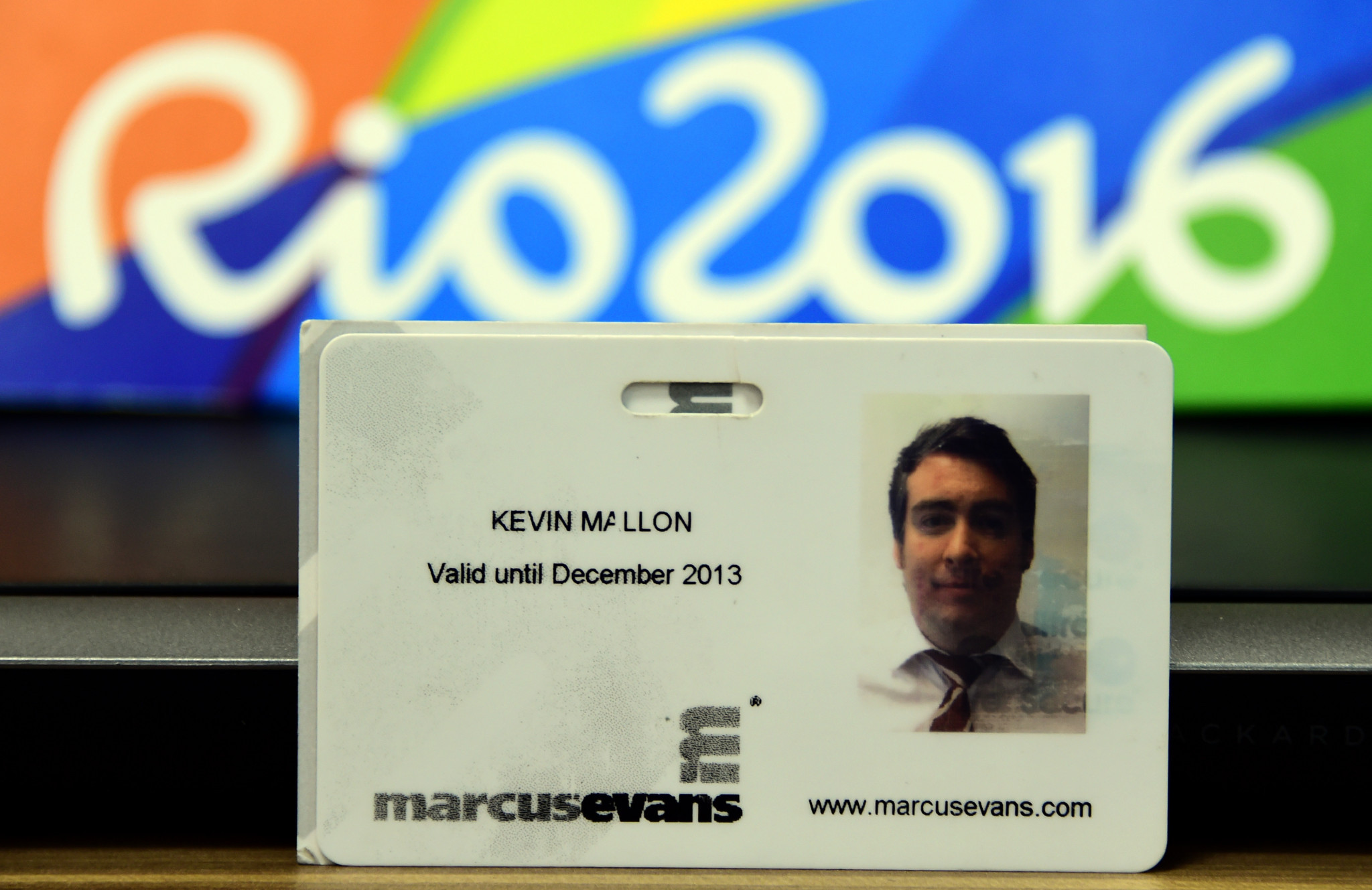 A business ID card belonging to Kevin Mallon of THG Sports ©Getty Images