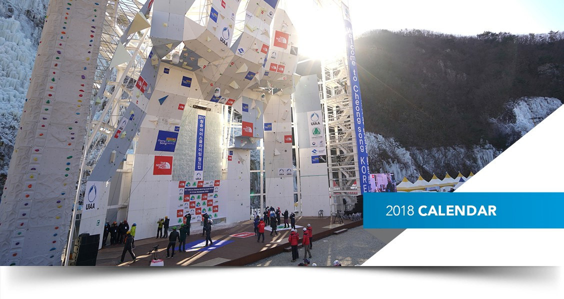 UIAA releases 2017-2018 ice climbing calendar