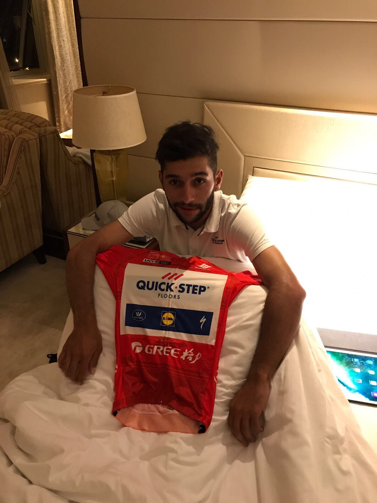 Fernando Gaviria sprints to a second straight stage victory in China